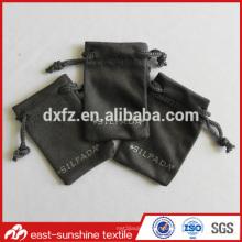 Petits sacs en caoutchouc personnalisé en microfibre en daim