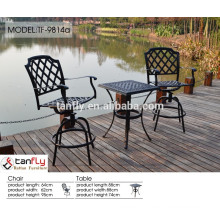 2014 dedon outdoor furniture cast aluminum table and chair