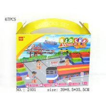 67PCS 84PCS Container Terminal Building Blocks Promotion Gift