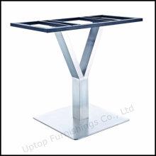 Y forma de acero inoxidable base de mesa de metal (SP-STL255)