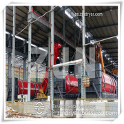 Rotary dryer triple Stage 3 Multi-loop drying machinery  for Food Waste Dryer