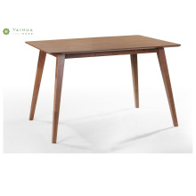 Table à manger flatable de conception simple en bois de noyer foncé