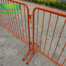 Road safety metal pedestrian used crowd control barrier