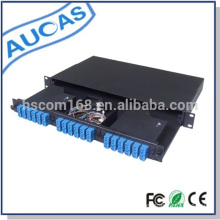1U Rack Mounted 24 Port Patch Panel Fiber Optic Patch Panel Factory Price