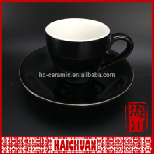 Porcelain tea set, cup and saucer with embossment design from chaozhou
