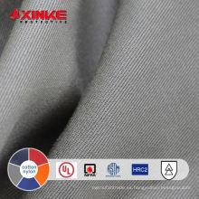 Tejido entrelazado de algodón y nylon resistente al fuego ASTM F 1506 para obrero