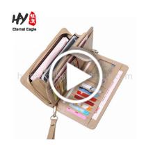 O caso de bolso mulheres 2017 designer de carteiras de couro do couro