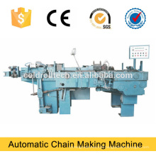 Automatic chain making machine, chain bending and welding machine