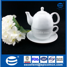Farbe / Geschenkbox Verpackung eine Person verwenden hohe weiße Porzellan Teetopf Tasse mit Logo