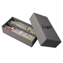 New Packaging Trend Grey Color Wine Bottle Boxes