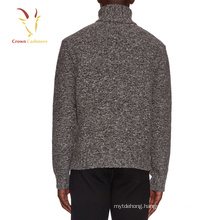 Turtleneck Cashmere Thick Sweater for Men Blended yarn