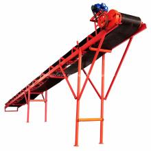 Sistema de transportador de banda lateral para transporte de carbón de arena
