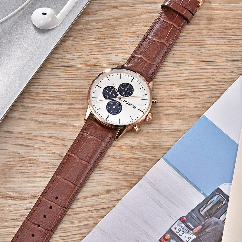 2018 leather straps luxury brand quartz movement men watch