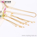 63656-Xuping New modern Jewellery 18K Gold Plated Hot Sale Copper Alloy Jewelry Set
