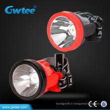 HENGDA LED Lampe minière sans fil Lampe minière rechargeable Lampe minière à tête allumée