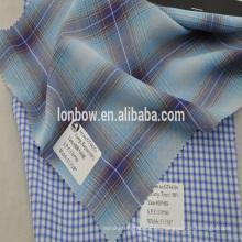 La venta caliente 100% tencel hilado de tela de la camisa teñió la tela escocesa