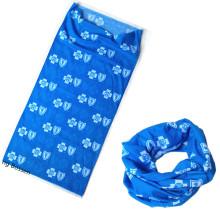 Diseño personalizado Impresión Sublimación Impresión Poliéster Azul Tube Buff Headband