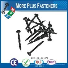 Made in Taiwan Phosphated Black drywall screw Drywall Tek Screw