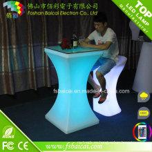 Tabla LED moderna de la barra de la tabla LED / muebles de acrílico LED de la tabla / LED del coctel