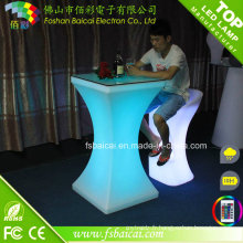 Tableau moderne de barre de Tableau de LED LED / table acrylique de cocktail de LED / meubles de LED