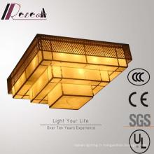 Lampe de plafond carrée multicouche décorative de haute qualité d'hôtel de qualité