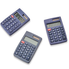 8 Digit Dual Power Mini Pocket Calculator for Promotion