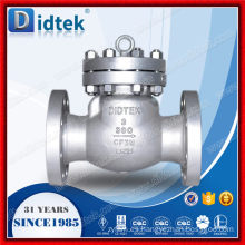Acero inoxidable Didtek API6D Válvula de retención Swing de 3 pulgadas