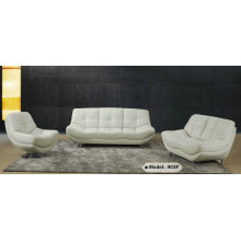 White Modern Design Genuine Leather Sofa (903)