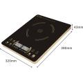 2016 super mince couleur doré capteur tactile 2 affichage à LED ultra mince fabriqué en Chine cuisinière à induction / induction table de cuisson