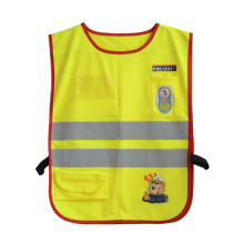 Kinder reflektierende Streifen Pocket Neon hohe Sichtbarkeit Sicherheitsweste (YKY2801)