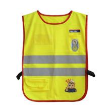 Дети светоотражающие полосы карман высокая видимость Неон жилет безопасности (YKY2801)