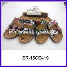 Neue stilvolle flache Damen Pantoffeln Designs PU Damen Pantoffel Sandalen 2015