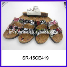 Новые стильные плоские дамские тапочки конструируют pu повелительницы тапочки сандалии 2015