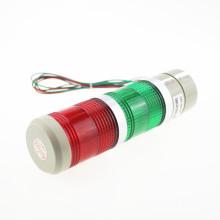 Lâmpada de advertência verde e vermelha do sinal do diodo emissor de luz, luz industrial da torre