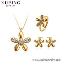 64642 xuping brinco simples conjunto de jóias colar delicado