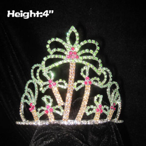 4inch Coconut Plam Tree Shaped Pageant Crowns