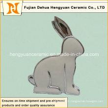 Porte-bougie en forme de lapin en forme de lapin de Pâques