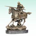 Chevalier antique Sculpture en bronze Soldat Statue en métal Tpy-455