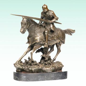 Ancient Knight Bronze Escultura Soldado Metal Estátua Tpy-455