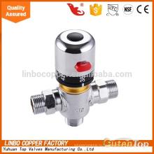 ЛБ-Gutentop 1/2*3/4 дюймов высокое качество Латунь термостатический смешивая Клапан трубопровода Linbo температура воды Латунь термостатический смесительный клапан, контроль температуры клапан