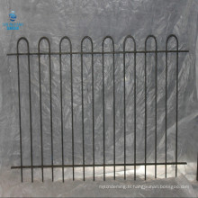 haut de cerceau haut de cerceau clôture de balustrade en fer forgé