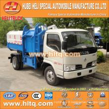 Vente chaude à bas prix 5m3 NOUVEAU dongfeng 4x2 chariot latéral chariot à ordures camion diesel