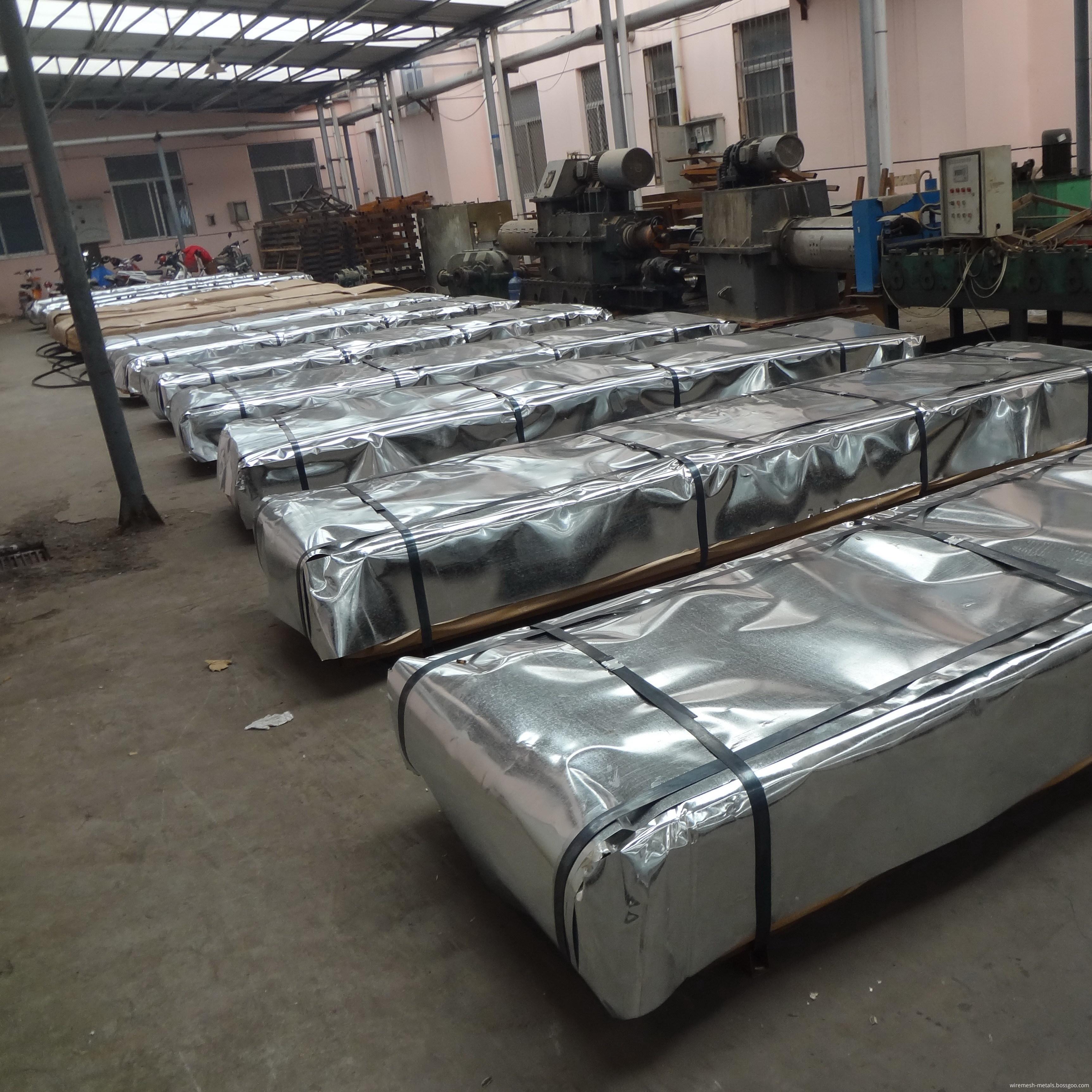 galvanized corrugated roofing sheet workshop