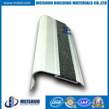 Alumínio extrudido, Carborundum Insert, Stair Nosing