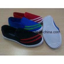Chaussures d'injection de toile, chaussures extérieures décontractées de Madame avec la semelle extérieure de PVC, chaussures de femmes polychromes