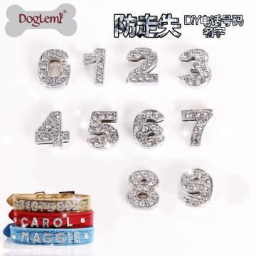 Doglemi neue Design Großhandel DIY personalisierte Namen Buchstaben Hundehalsband