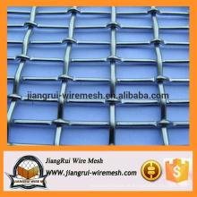 Malha de arame crimpado de aço inoxidável / malha de arame galvanizado crimped