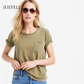 Pocket Cotton Women T Shirt