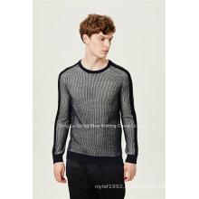 Pull en laine acrylique ottoman à manches courtes en tricot