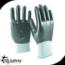 SRSAFETY 13G трикотажные нейлоновые покрытые многоразовые нитриловые перчатки